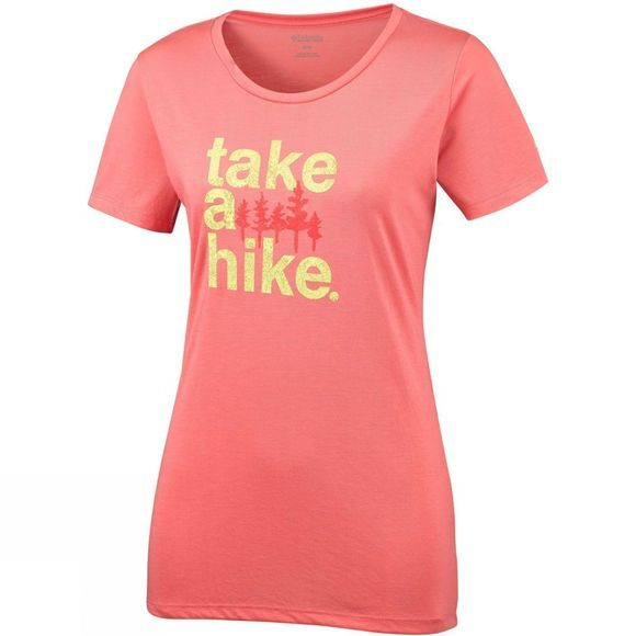 Columbia Womens Outdoor Elements III Tee Coral Bloom, Take a Hike