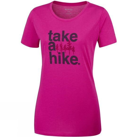 Columbia Womens Outdoor Elements III Tee Haute Pink/Take A Hike