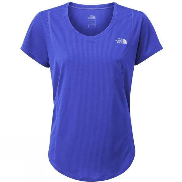 The North Face Womens 24/7 Short Sleeve T-Shirt Dazzling Blue