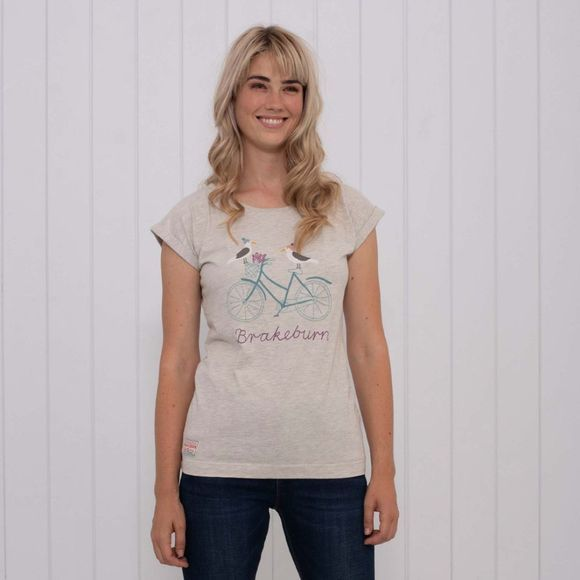 Womens Seagull Embroidered Tee