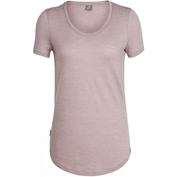 Icebreaker Womens Solace Short Sleeve Scoop T-Shirt Dusk Heather