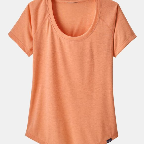Patagonia Womens Capilene Cool Trail T-Shirt Peach Sherbet