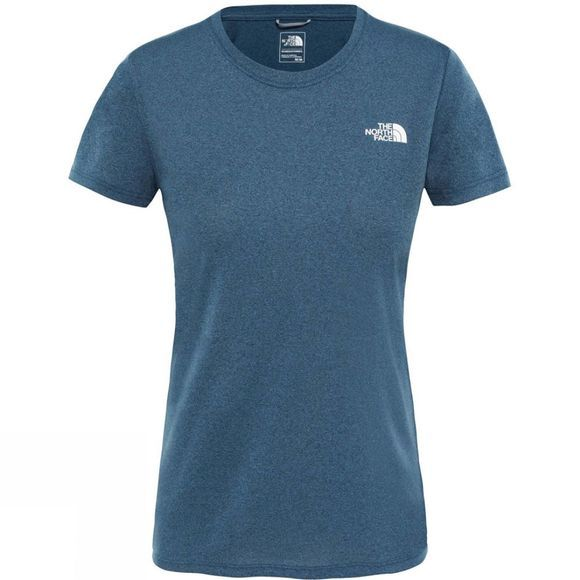 The North Face Women's Reaxion Amp Crew Shirt Blue Wing Teal Heather