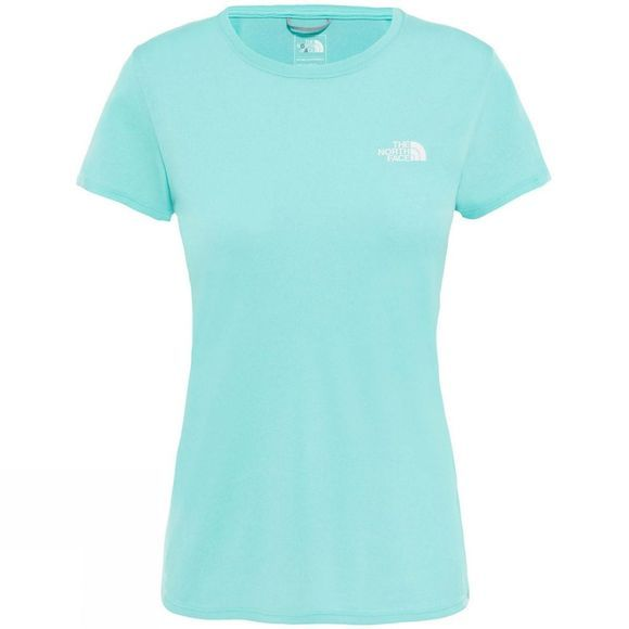 The North Face Womens Reaxion Amp Crew Mint Blue Heather