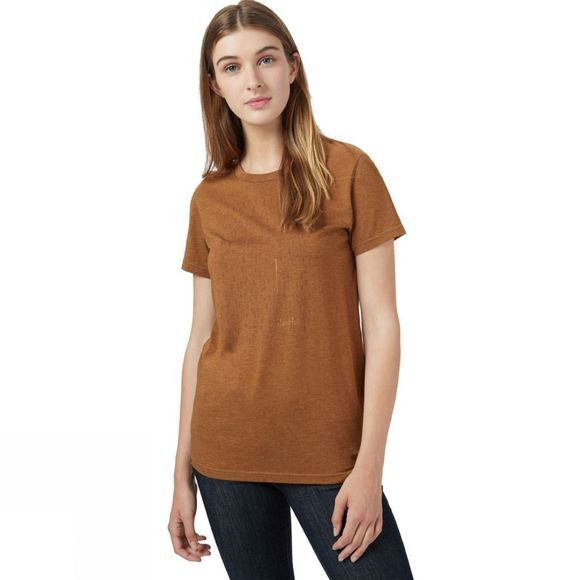 Tentree Womens Stand Tall Short Sleeve Tee Rubber Brown Heather
