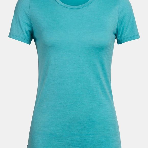 Icebreaker Tech Lite Short Sleeve Low Crewe Top Lagoon