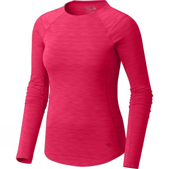 Mountain Hardwear Women's Mighty Stripe Long Sleeve T-Shirt Mountain Berry