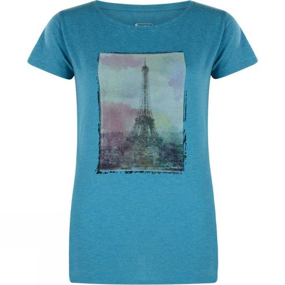 Dare 2 b Womens Tower Above T-Shirt Enamel Blue Marl