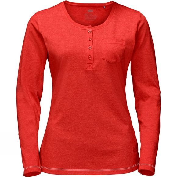 Jack Wolfskin Womens Essential Longsleeve Fiery Red