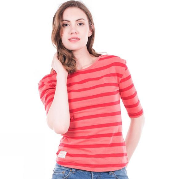 Womens Striped 3/4 Tee