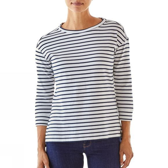 Patagonia Womens Misty Meadow Top FRESHWATER STRIPE/BIRCH WHITE