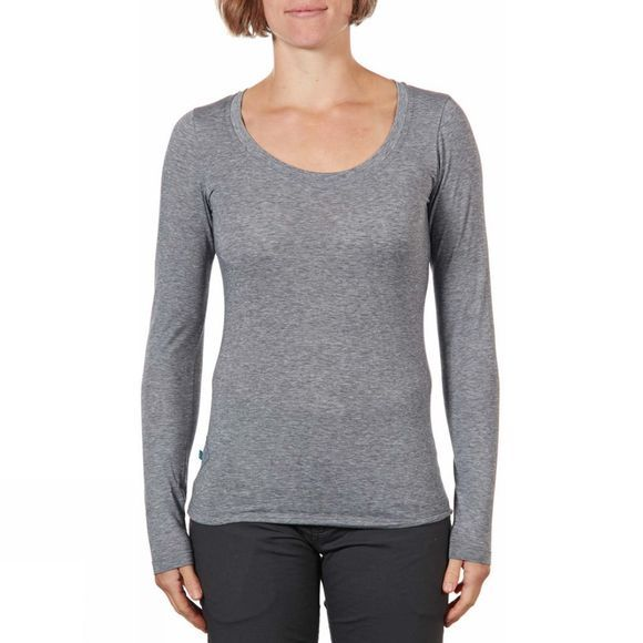 Rab Womens Crimp Long Sleeve Tee Grey Marl