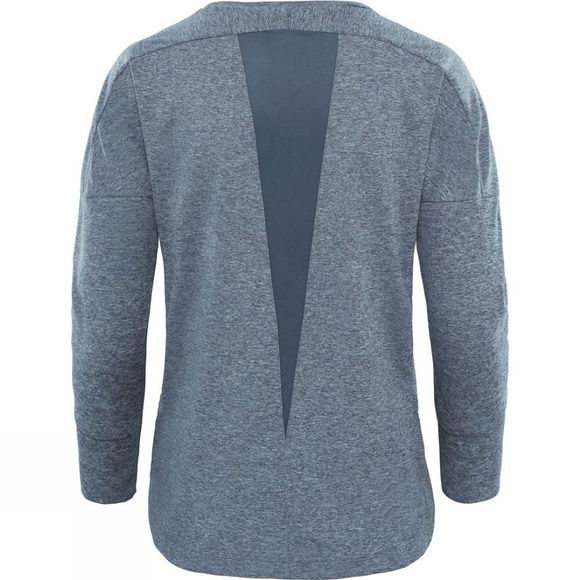 The North Face Womens Inlux 3/4 Sleeve Top Vanadis Grey Heather