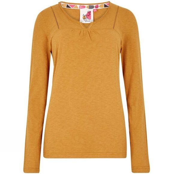 Weird Fish Womens Walkabout Long Sleeve T-Shirt Saffron
