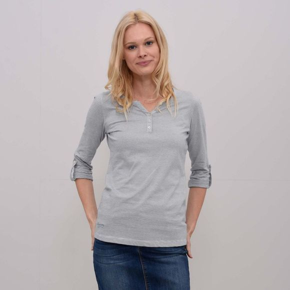 Womens Three Quarter Sleeve Henley