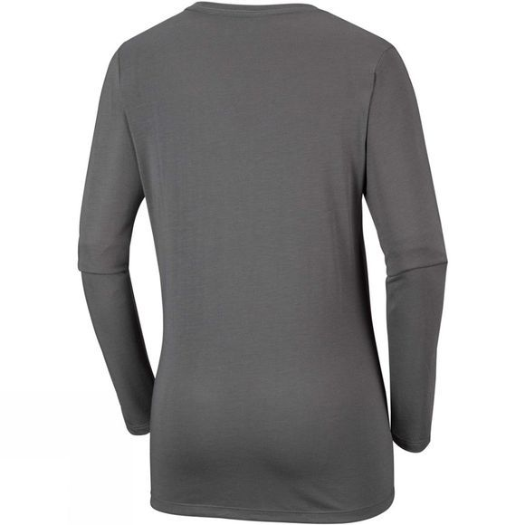 Columbia Womens Outdoor Elements Long Sleeve Tee Charcoal