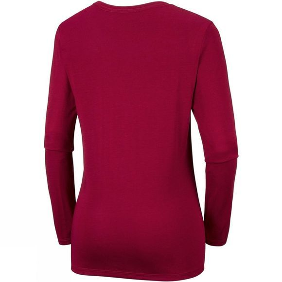 Columbia Womens Outdoor Elements Long Sleeve Tee Pomegranate