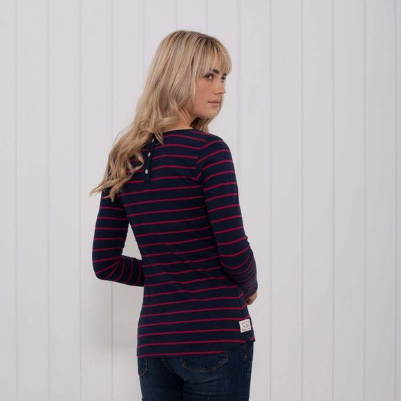 Womens Yarn Dye Long Sleeve Tee