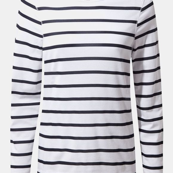 Craghoppers Womens Nosilife Erin II Long Sleeve T-Shirt Blue Navy/Optic White Stripe