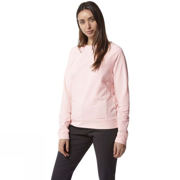 Craghoppers Womens Nosilife Sydney Crew Long Sleeve T-Shirt Seashell Pink