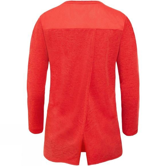 The North Face Womens Inlux 3/4 Sleeve T-Shirt Juicy Red Dark Heather