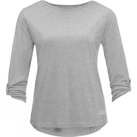 Jack Wolfskin Womens Coral Coast 3/4 Tee Light Grey