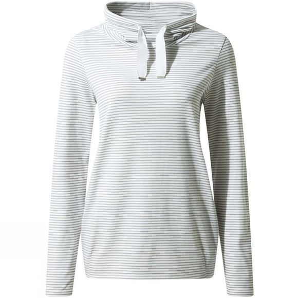 Craghoppers Womens NosiLife Adelina Long Sleeve Top Soft Grey Marl Stripe