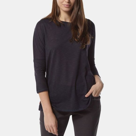 Craghoppers Womens NosiLife Shelby Long Sleeve Top Midnight Blue