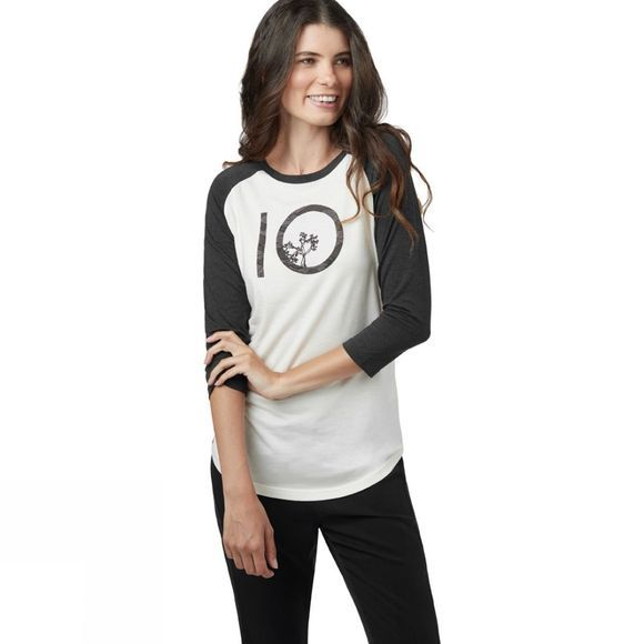 Tentree Womens Aspect Ten 3.25 Long Sleeve Tee Elm White/Meteorite Black