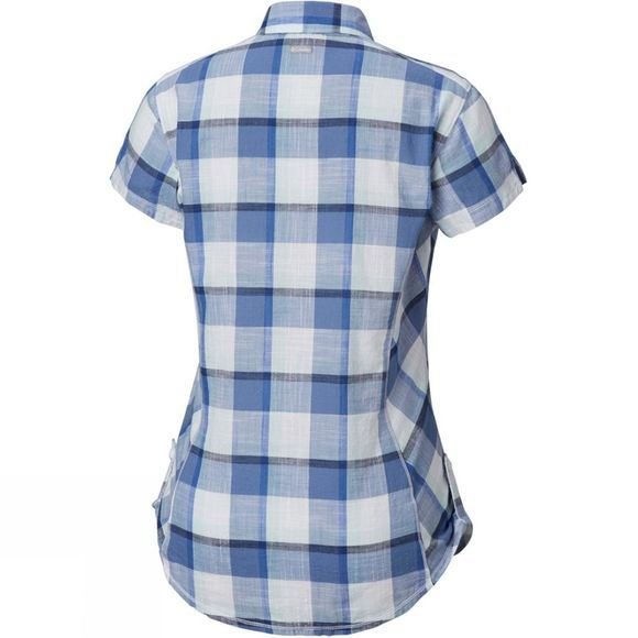 Columbia Womens Camp Henry Short Sleeve Shirt Blue Dusk Block