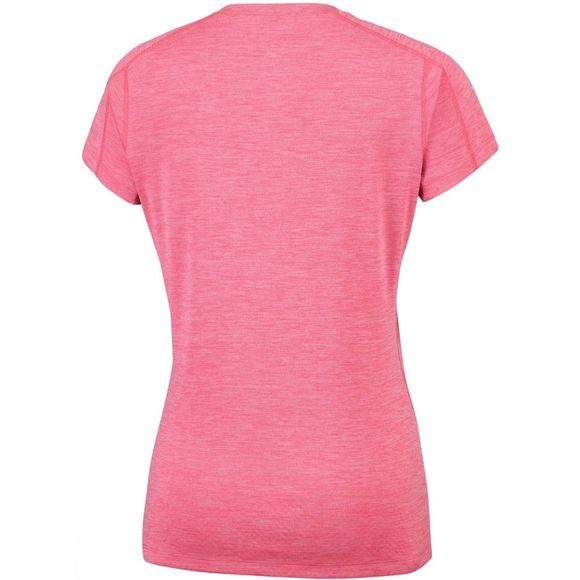 Columbia Womens Zero Rules Short Sleeve Shirt Red Coral Heath