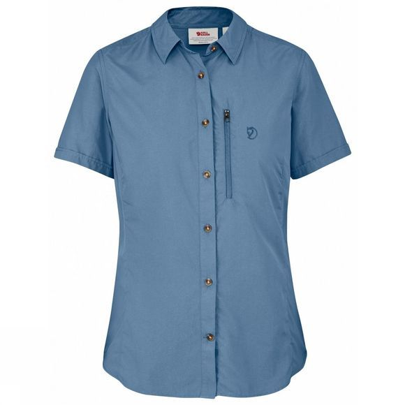 Fjallraven Womens Abisko Hike Shirt Blue Ridge