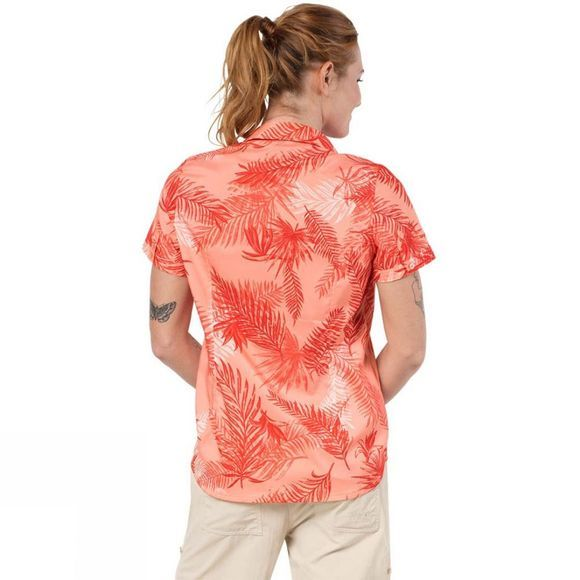 Jack Wolfskin Womens Sonora Palm Shirt Apricot Pastel All Over