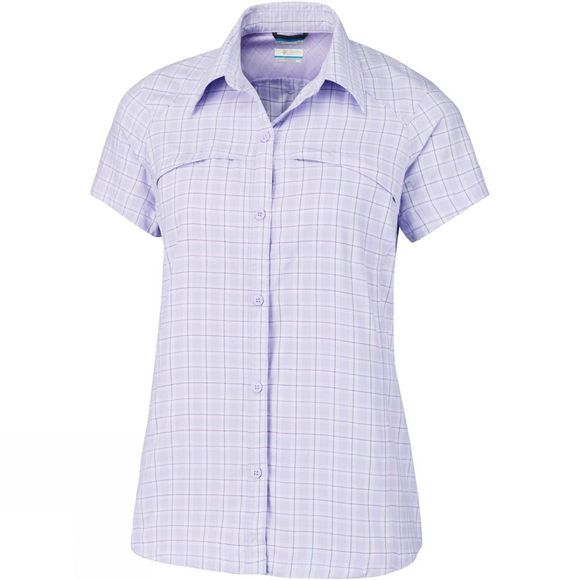 Columbia Womens Silver Ridge Multi Plaid SS Soft Violet Rip Stop Plaid