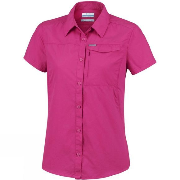 Columbia Womens Silver Ridge 2.0 Short Sleeve Wine Berry