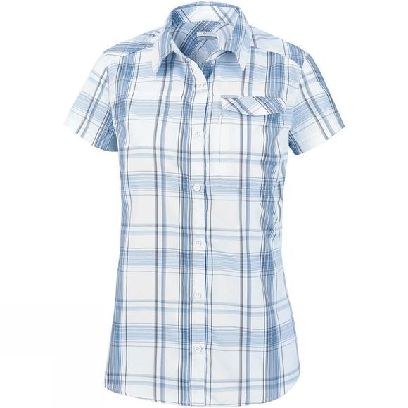 Columbia Womens Silver Ridge 2.0 Plaid Short Sleeve White Large Plaid