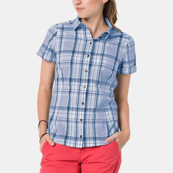 Jack Wolfskin Womens Maroni River Shirt Shirt Blue Checks