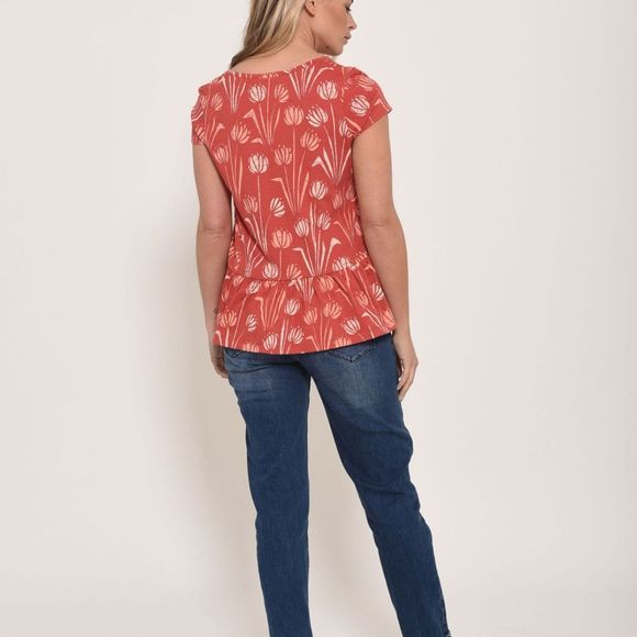 Brakeburn Womens Water Reed Blouse  Red