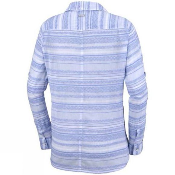 Columbia Womens Early Tide Long Sleeve Shirt Harbor Blue