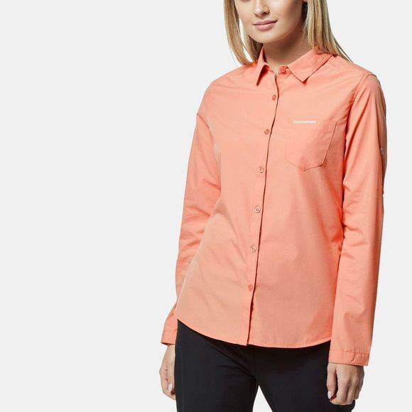 Craghoppers Womens Kiwi Long Sleeve Shirt Rosette