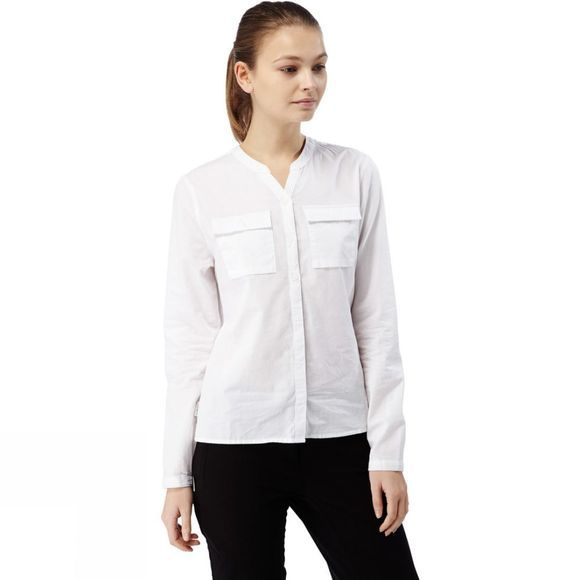 Craghoppers Womens Ravello Long-Sleeved Shirt Optic White