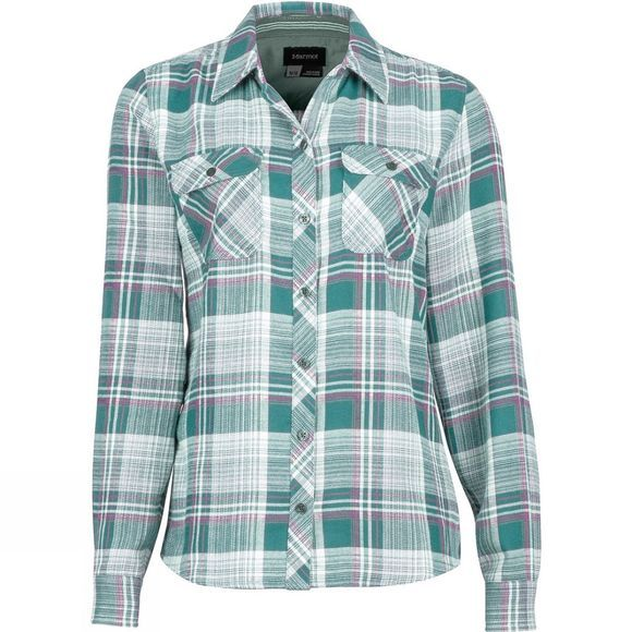Marmot Womens Bridget Flannel Long Sleeve Sea Fog