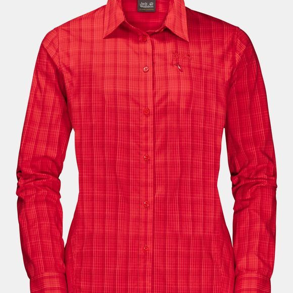 Jack Wolfskin Womens Centaura Flex Shirt Red Fire