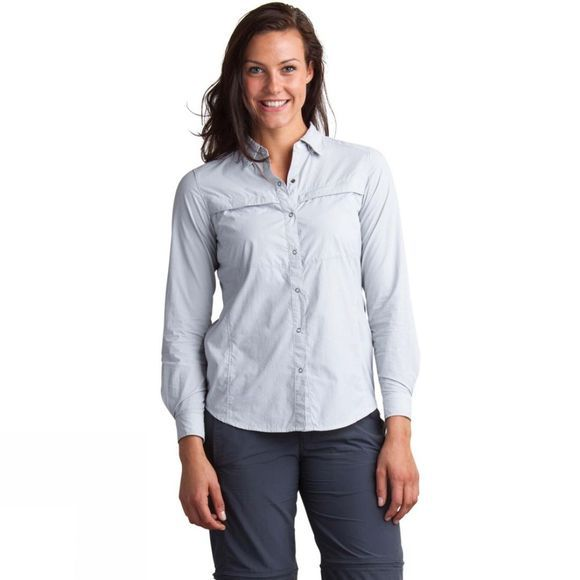 Womens BugsAway Halo Stripe Long Sleeve Shirt