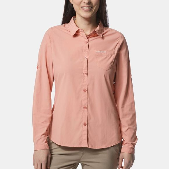 Craghoppers Womens Nosilife Bardo Long Sleeve Shirt Rosette