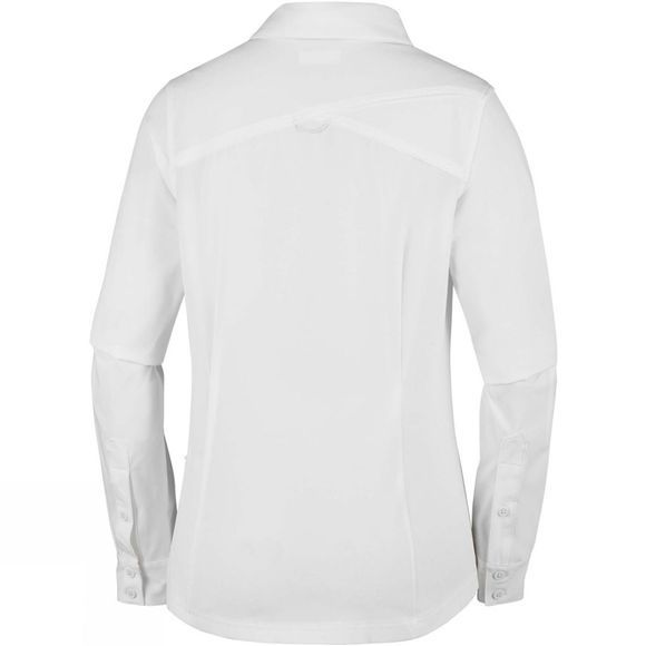Columbia Womens Saturday Trail Stretch Long Sleeve Shirt White