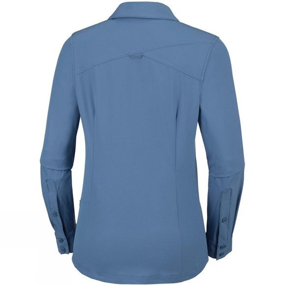 Columbia Womens Saturday Trail Stretch Long Sleeve Shirt Blue Dusk