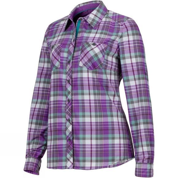Marmot Womens Lillian Shirt Bright Violet