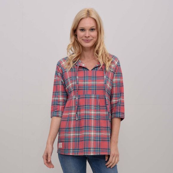 Brakeburn Womens Empire Check Blouse Pink