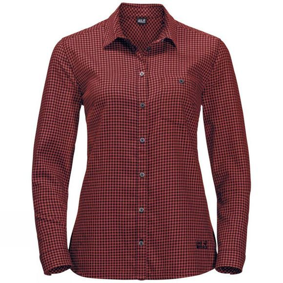 Jack Wolfskin Womens AlIn Shirt Mexican Pepper Checks